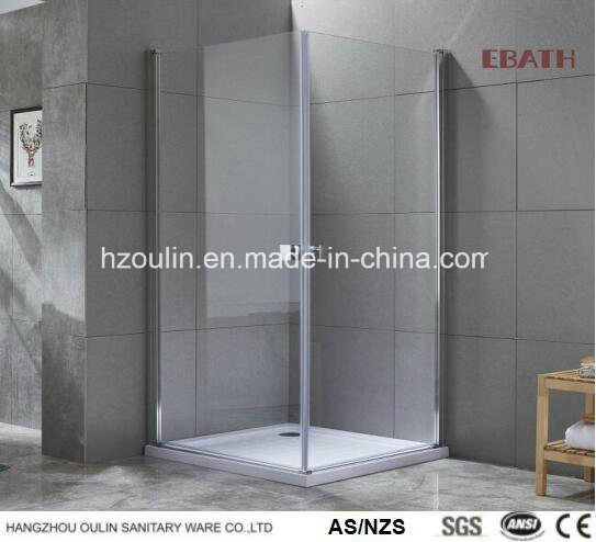 Square Tempered Glass Shower Cabin with Hinged Door -Nano Glass Design