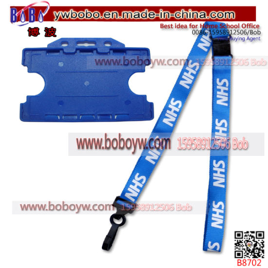 Wholesale OEM Webbing Custom Lanyard Christmas Gift Purchase Agent (B8702)