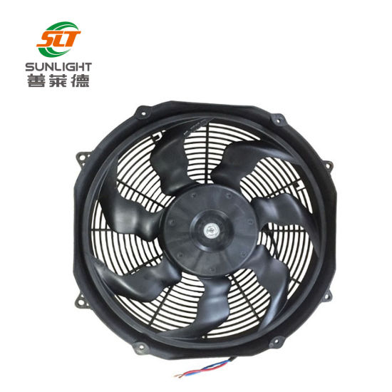 7 INCH 24V BLACK ELECTRIC COOLING FAN PERFORMANCE THERMO FAN 24-VOLT