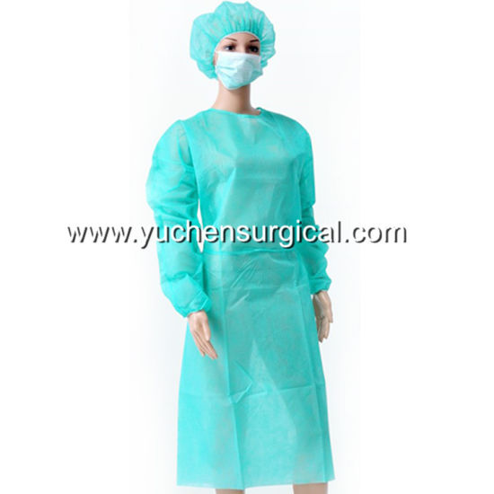 China High Quality Disposable Medical PP Nonwoven Isolation Gown ...