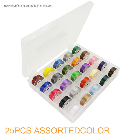 25PCS Prewound Bobbin & Sewing Thread for Embroidery &Sewing Machine