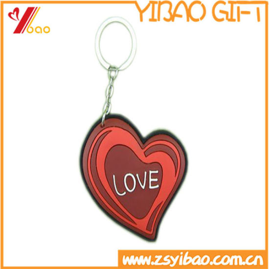 Custom Logo Key Chain Holder Promotionalpvc 2D and 3D Key Chain Soft PVC Keyring