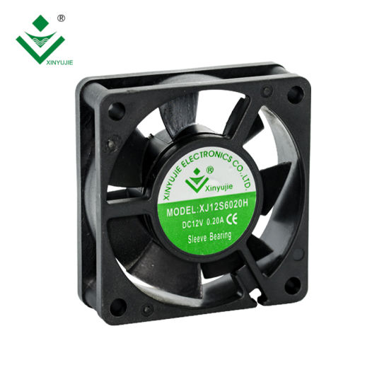 China 60X60X20 Axial Flow Inverter Cooling Fan 60mm 12V Waterproof