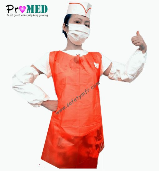 Printed Disposable PE Working Apron