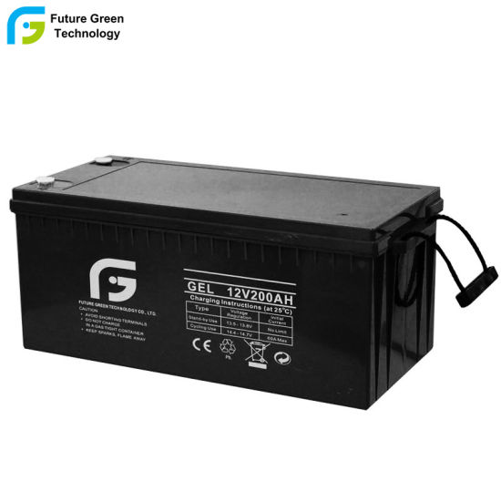 12V 200ah Rechargeable AGM SLA Deep Cycle Battery for Home