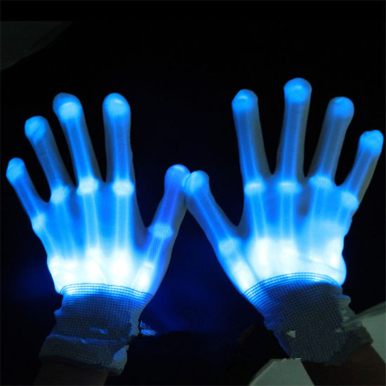 Real Promotion LED Clothes 1pair Unisex Lighting up LED Gloves Flash for Party Decorations Dancing Luminous Toys pictures & photos