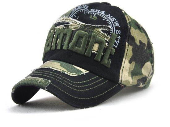 9d7c2f40c7c China Cheap Camo Custom Embroidered Patches Distressed Baseball Cap ...