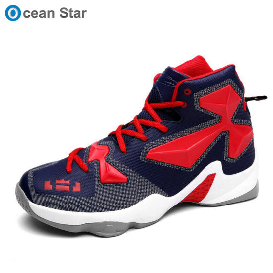 China Mens Outdoor High Quality High Cut Basketball Sport Shoes