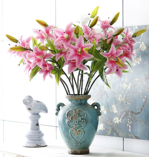 China Cheap Artificial Lily Flowers For Wedding Table Centerpieces