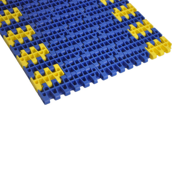 New Design Rubber Top Plastic Modular Belt for Climbing Conveyor