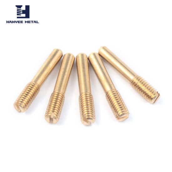 CNC Machining Spare Part Brass Screw for Communication Equipment pictures & photos