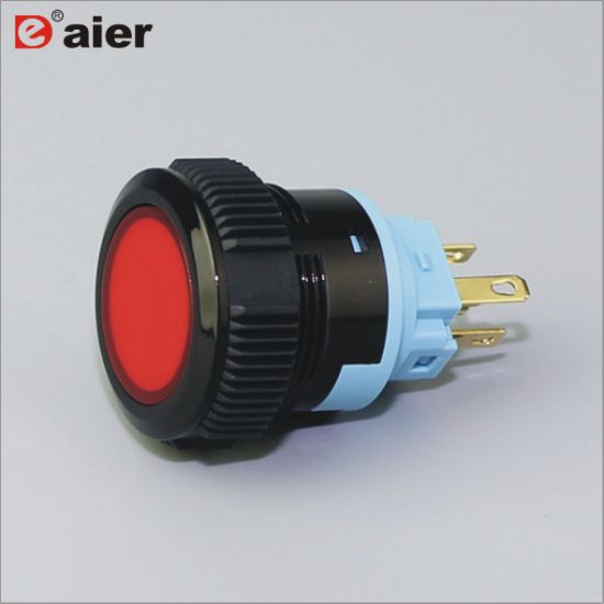 China Ip67 Plastic Flat 3 Pin Momentary Push Button Power Switch