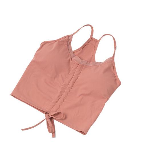 Wholesale Female Custom Logo Womens Workout Tank Tops T Shirt Ladies Underwear Sexy Bras Brassiere Wireless Yoga Top Sports Vest Bra Custom Sports Bra