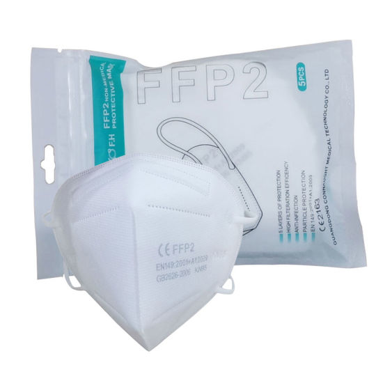 Guangdong Personal Protection Respirador Dusk Mouth and Nose Mask Fog FFP2 Nr En149: 2001