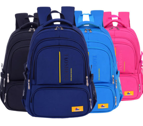 Four Colors Light Weight School Backpack Students Shoulder Bag