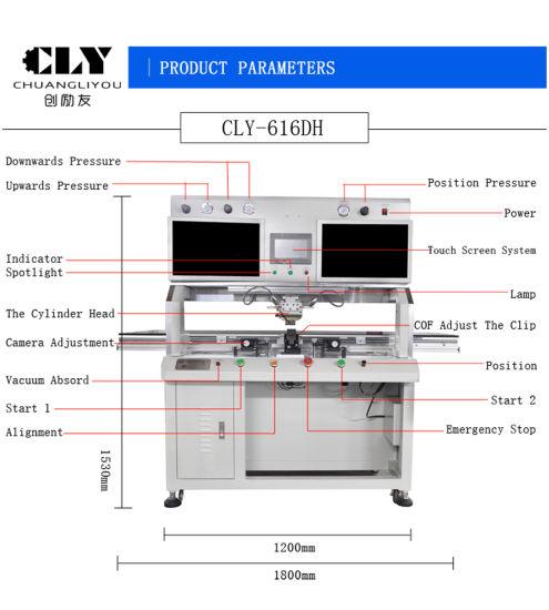 China TV LCD Repair Titanium Alloy Head Cof Bonding Machine