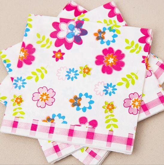 China 33x33cm Dinner Set Table Napkin Flower Market Paper Napkins