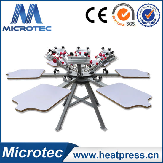 Hot Selling Micro Registration 6 Color 6 Station Screen Printing Machine pictures & photos