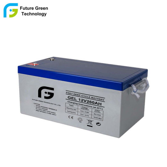 Big Size Deep Cycle Solar Gel Battery 12V 260ah