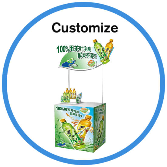 Plastic Sales Advertising Promotion Pop up Display Counter