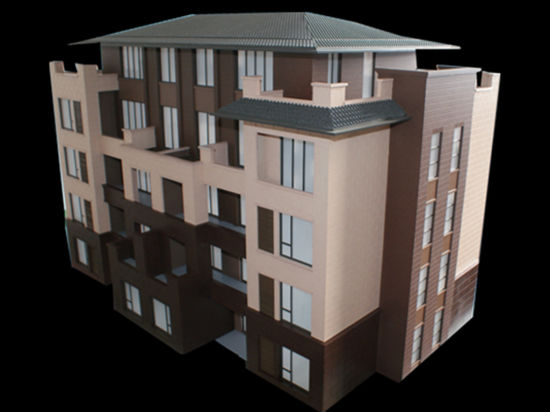 Architectural Model of Residential House (JW-367)