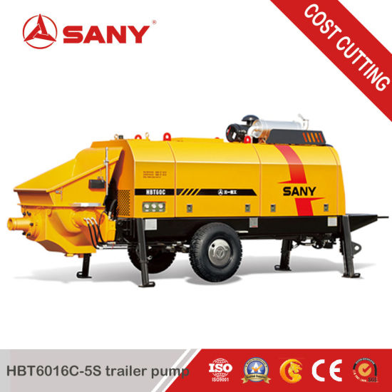 Sany Hbt6016c-5s 70m3/H Output Diesel Trailer Pump pictures & photos