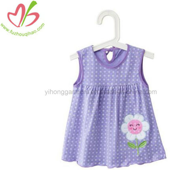 84911085c China 100% Cotton Baby Girl Embroidery Floral Vest Dress - China ...