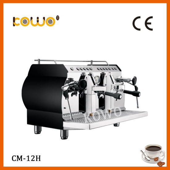 Stainless Steel 2 Group Electric Espresso Cappuccino Coffee Machine for Sales