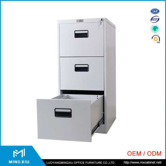 Mingxiu 3 Drawer Vertical File Cabinet / Metal Furniture Office File Cabinet pictures & photos