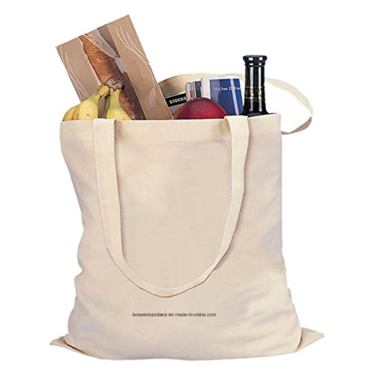 OEM Produce Customized Logo Printed Promotional Cotton Canvas Tote Craft Hand Bag pictures & photos