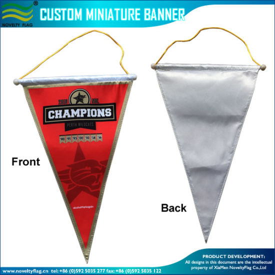 China Exchange Flag Blank Banner Silk Stain Triangle Hang Pennant (J ...