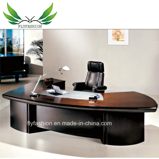Professional Office Furniture Half Round European Style Executive Desk For Bosanager Et