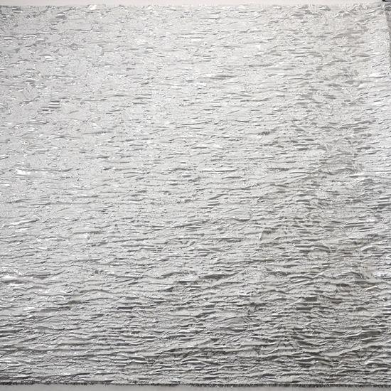 Silver Silk Floral Print Brocade Fabric