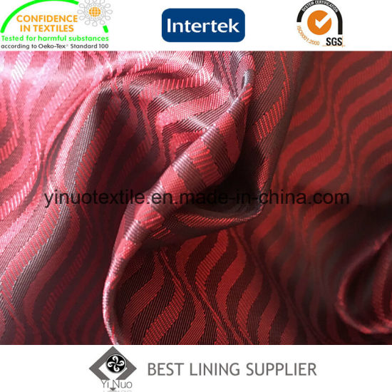 Polyester Fashion Soft Men′s Suit Liner Lining Jacquard Lining Factory pictures & photos