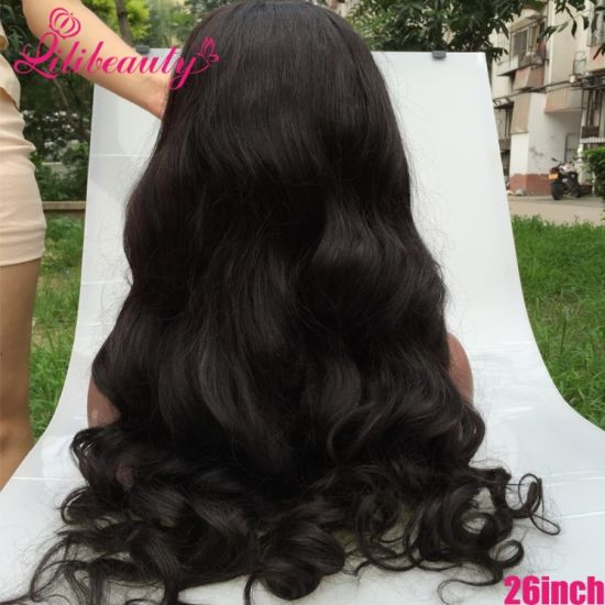 100% Virgin Human Hair 26 Inch Body Wave Full Lace Wig Wholesale pictures & photos
