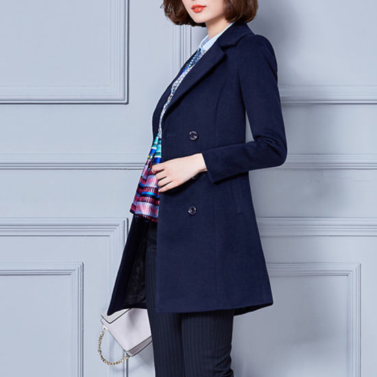 03a9eafe30 New Model Long Sleeve Wind Coat, Ladies Formal Coat Designs pictures &  photos