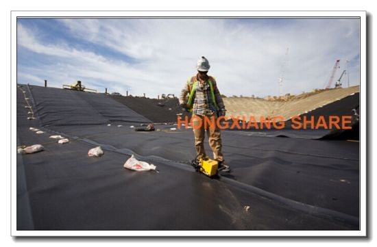 LLDPE Geomembrane with Low Density Polyethylene -Textured pictures & photos