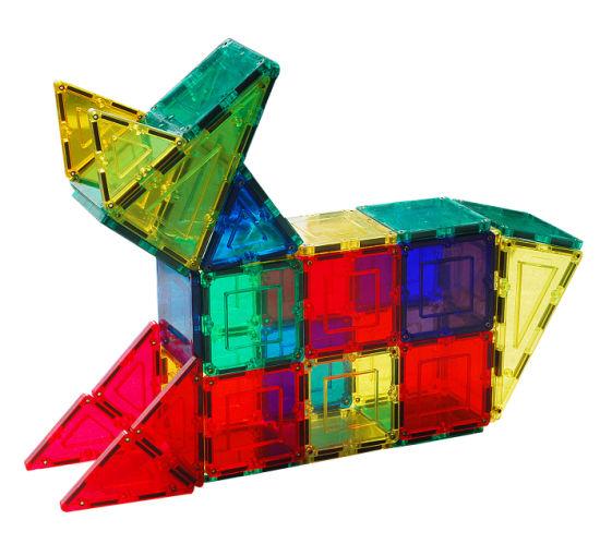 Magnetic Building Blocks Set 3D DIY Building Tiles Construction Play Board