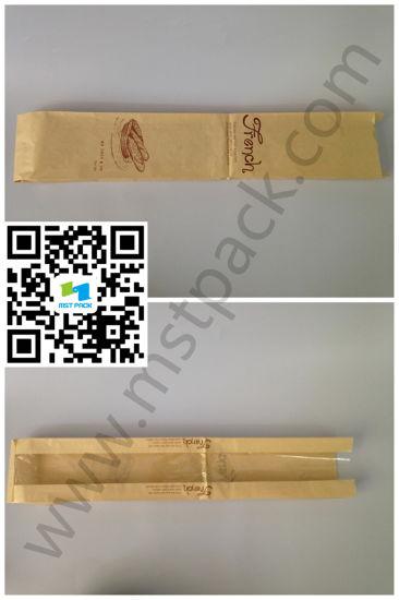 Bread Packaging Bag Paper Packaging with Window