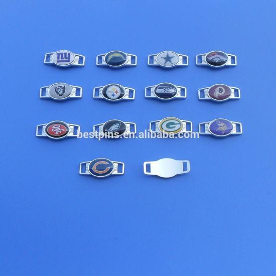 Metal Shoe Charm/Buckle Silver Printing Designr Shoelace Lock