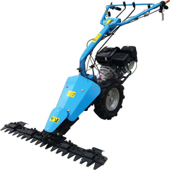 Double Movement System for Blade Cutting Bar Grass Mower