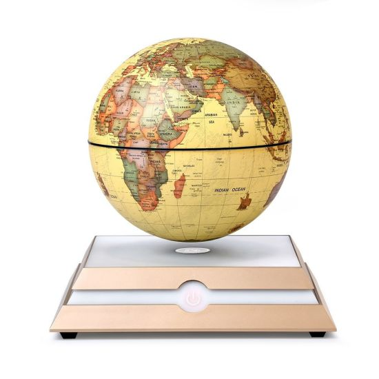 China magnetic floating rotating globe anti gravity levitating globe magnetic floating rotating globe anti gravity levitating globe world map with star constellation display for home office desk decor kids educational gift gumiabroncs Images