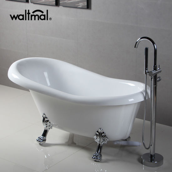 Classical Free Standing Acrylic Clawfoot Bathtub With Tiger Feet Pictures U0026  Photos