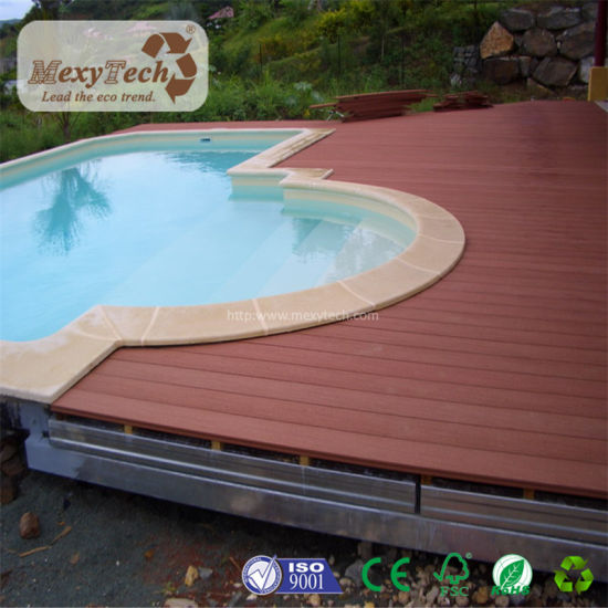 Waterproof UV Resistant Red Wood WPC Swimming Pool Decking pictures & photos