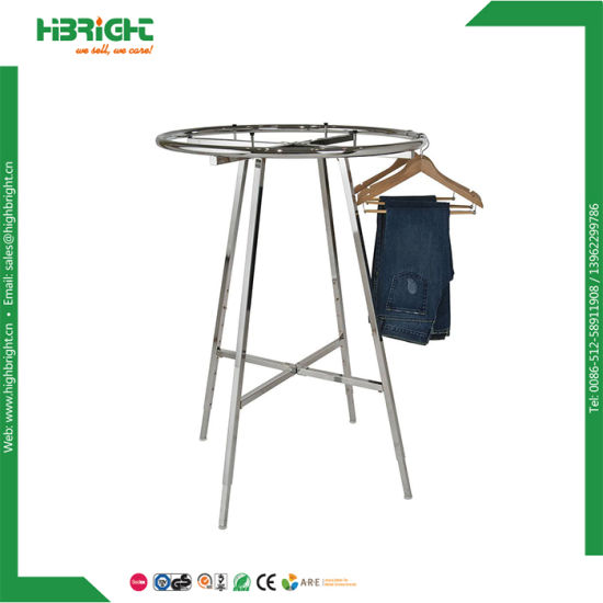 Retail Metal Portable Revolving Clothing Hanger Rack Steel Dryer Display Round Rotating Clothes Rack for Sale pictures & photos