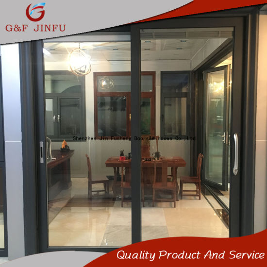 China high end metal profile double glass aluminium sliding door high end metal profile double glass aluminium sliding door with shutters planetlyrics Image collections