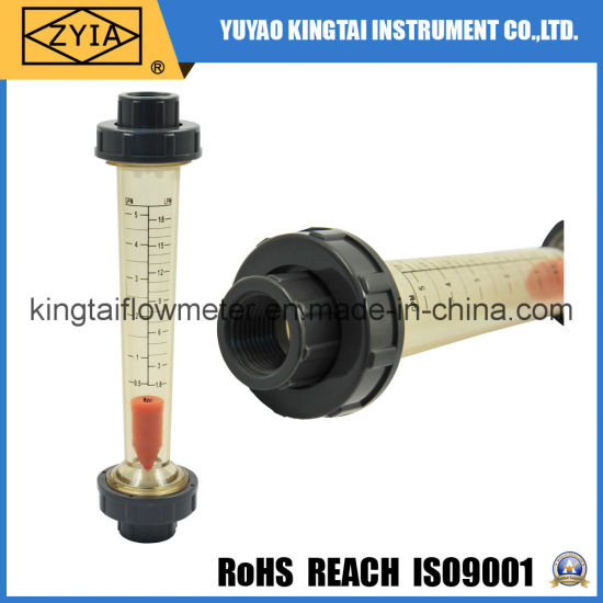 Lzs Plastic Pipe Tube Type Water Liquid PVC Flow Meter