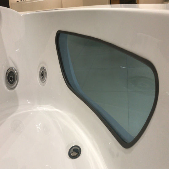 Corner Massage Bathtub with Bubble LED Light Certificated Ce/Saso/UL (K-1065) pictures & photos