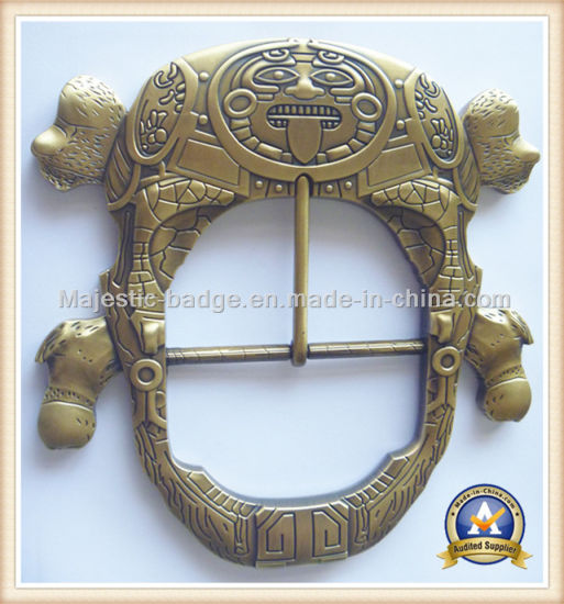 3D Customized Zinc Die Cast &Plating Antique Belt Buckle pictures & photos