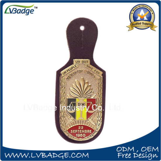 High Quality Promotional Metal Leather Keychain pictures & photos